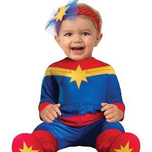 NEW Captain Marvel Long Sleeve Costume 0-6m